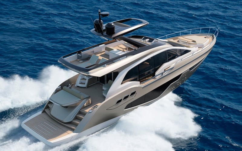 Fly 21 Gullwing, новый флагман верфи Sessa Marine
