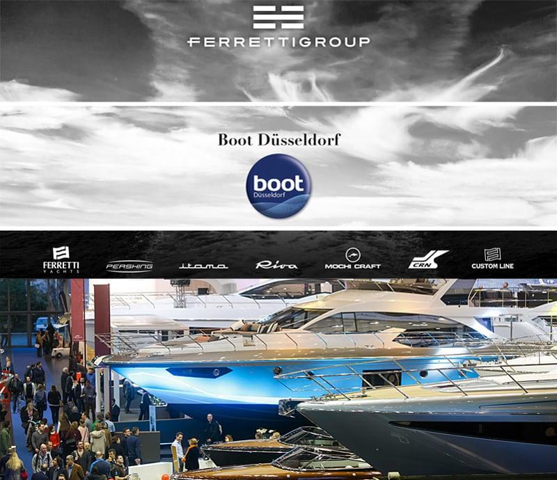 Ferretti Group на Boot Dusseldorf с 21 по 29 января представит новые модели флотилии
