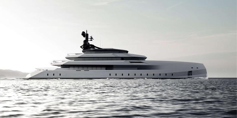 Смелый концепт 75-метровой яхты Begallta от CRN