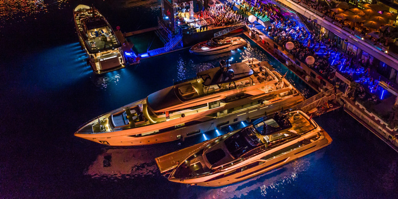 "Волшебный яхтенный вечер ""All Night Long"" от Ferretti Group"