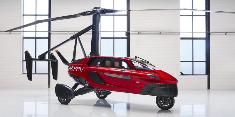 Flying car for yacht garage