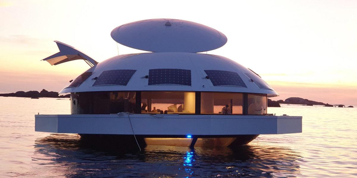 Anthenea: Приватный отель-капсула на воде