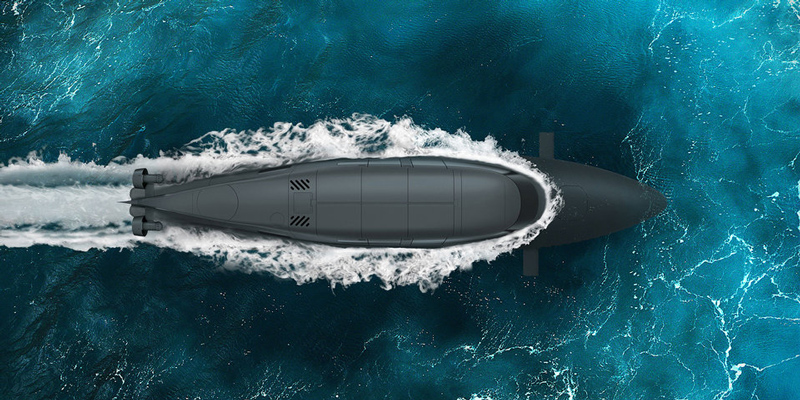 Британский катер, который может превращаться в подводную лодку